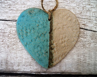 Loveheart Hanger, gift idea, pottery. Made by Wiktorski Ceramics.