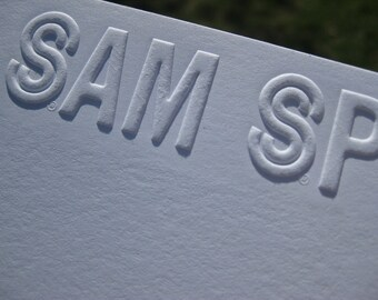 Custom Corporate Embossed Logo Stationery Notecards