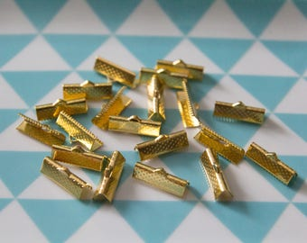 Set of 20 caps claw 13 mm for bracelets, MULTISTRAND gold