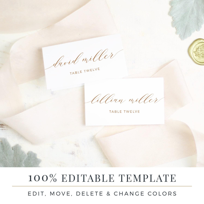 Flipboard Wedding Place Card Template Printable Escort Cards