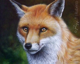 The Fox - Original Fox Painting | Wildlife Art by Roberto Rizzo