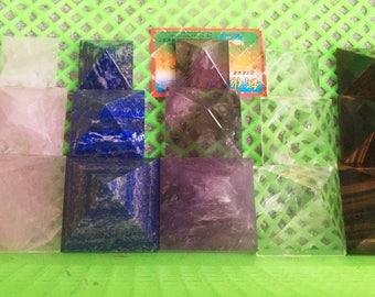 Obsidian Pyramid/Tigers Eye Pyramid/Lapis lazuli Pyramid/Amethyst Pyramid/Clear Crystal Pyramid(Size:30mm,40mm,50mm,60mm,70mm,Custom Size)