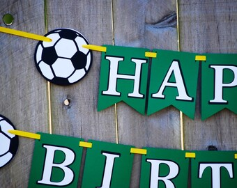 Soccer Birthday Party Banner, Sports Banner, Soccer Party, Soccer Baby Shower