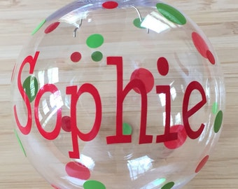 Monogrammed Christmas Ornament, Personalized Christmas Ornament, Christmas Ornament, Plastic Ornament, Personalized Gift, Monogrammed Gift
