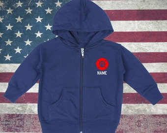 Baby Firefighter Zip-Up Hoodies