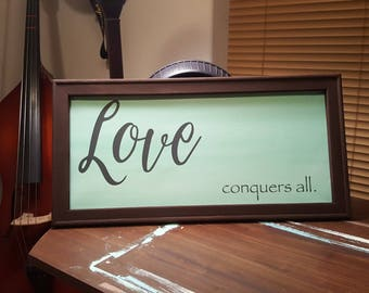 Love Conquers All Reverse Canvas