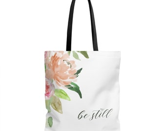 Bible Study Tote Bag / Scripture Tote Bag / Bible Verse Tote / Be Still Tote / Christian Gift / Be Still Tote / Bible Verse Bag / Church Bag