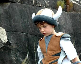 Viking Helmet - GREY and BROWN -  Kid Costume, Adventure Gear