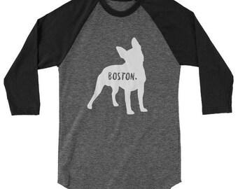 Boston Terrier Baseball T-Shirt for Men & Women / Boston Terrier Long Sleeve Shirt for Men and Women