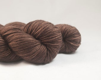 The Great Rupert - Brown Hand Dyed Superwash Merino DK Yarn