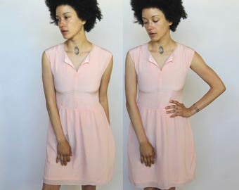 another world -- beautiful vintage designer LANVIN silk baby pink dress XS/S