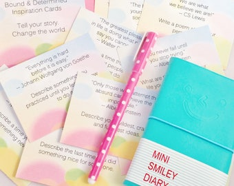 Inspiration Journal, All About Me Journal Memory Book Journal Prompts
