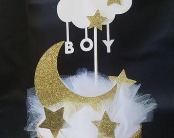 Twinkle Twinkle Little Star Baby Shower Centerpiece/ Twinkle Twinkle Cake Topper/ Baby Boy/ Baby Girl/ Baby Shower