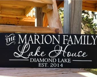 Lake House Sign-Lake House Decor-Custom Lake House Signs-Personalized Lake House Sign-lake sign-cabin decor-cabin signs-wood sign-cabin wall