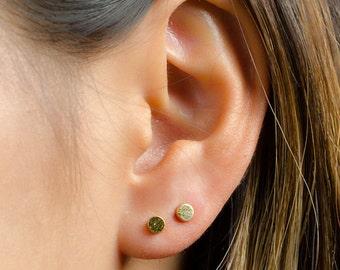 Dainty Dot Earrings, Sterling Silver, Gold Plated, Minimal Stud Earrings, Simple Silver Earrings, Lunaijewelry, Graduation Gift , STD007