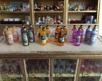 Miniature Dollhouse 1:12 Scale Toiletry Bottles
