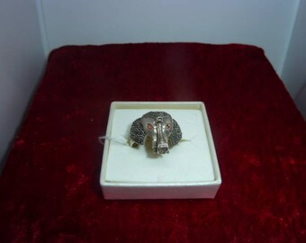 Genuine MARCASITE and Ruby ring
