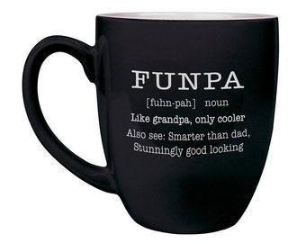 Funpa, fête des pères, Mug personnalisé, une tasse de café drôle, cadeau personnalisé, cadeau pour Papy, grands-parents jour, fêtes des pères cadeau du jour--27228-CM06-100
