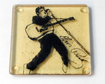 Elvis Fused Glass Coaster