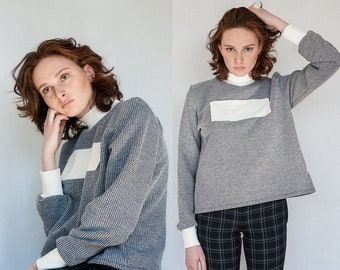 Limited Edition Textured Blank Pullover Turtleneck S M L