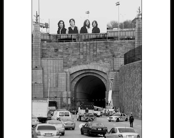 The Beatles Lincoln Tunnel Itune Ads, Fine Art  Photography, Black and White.