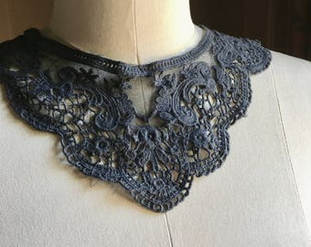 Charcoal Gray Applique All Around for Garments, Costume Design  CA 600