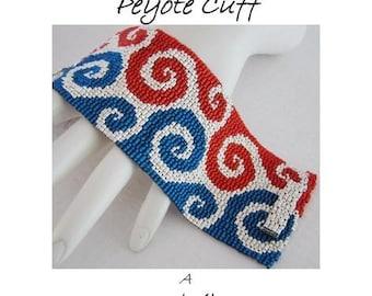 3 for 2 Program - Dee-lightful Swirls Peyote Cuff - For Personal Use Only PDF Pattern
