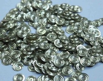 100 Metallic  Silver/ Circle Texture / Round Sequins/KBRS121