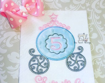 Monogram Princess Carriage, monograms, girls princess, princess, purple carriage, punk princess