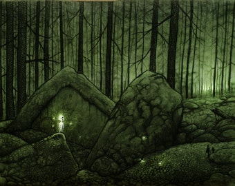 Lost - Forest Art, Enchanted Forest, Fairytale, Mystical Forest, Scandinavian Forest, Forest Spirit, Mononoke
