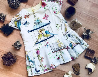 Newborn - White Birdcage Dress in 100% Cotton | Vintage Girls Dress | Coming Home Outfit | Lined Bodice | NB