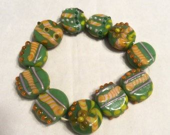 Lampwork Coin Beads (1923)