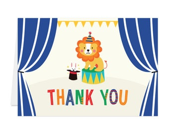Printed Thank You Cards - Circus