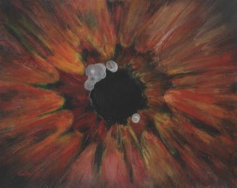 "Original Zombie Art Acrylic Painting on 8""x10"" Cardstock Walking Dead"