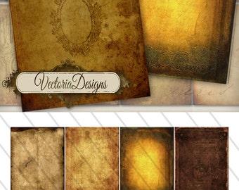 Magic Paper ATC vintage images digital background instant download printable collage sheet VD0168