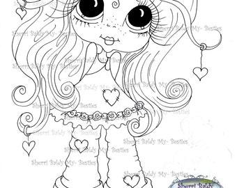 INSTANT DOWNLOAD Digital Digi Stamps Big Eye Big Head Dolls Digi  Img208 By Sherri Baldy