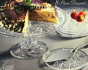 Crystal Cake Stand Desert Plate Server  France