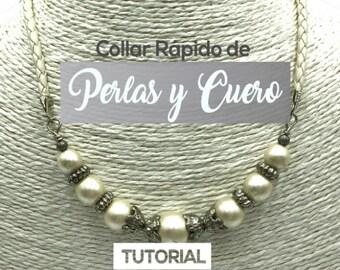 Collar Rápido de Perlas y Cuero Ebook PDF con Video Tutorial