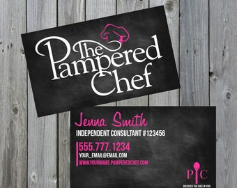 Chef business card etsy pampered chef business cards pampered chef business pampered chef pampered chef cards colourmoves Images