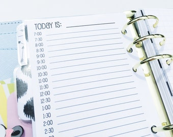 Printed Personal Size Day on TWO Page {DO2P} Planner Inserts