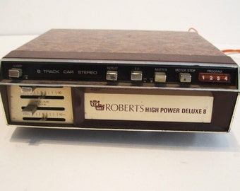 Vintage Roberts 8 Track Tape Player Car Stereo - Untested