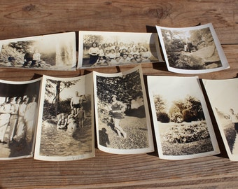 Vintage Collection of Eight 1915-1935 Photos
