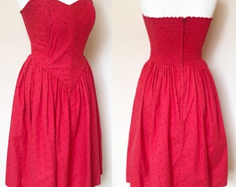 Vintage 1980s Ladybird Rockerbilly Sundress - UK Size 8/US Size 4