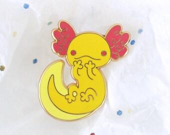 Axolotl Enamel Lapel Pin ~ Takuan