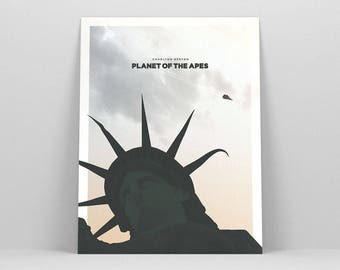 Planet of the Apes ~ Minimalist Poster, Movie Poster, Art Print, Wall Art, Wall Decor, Gifts for Him, Fathers Day Gift