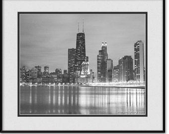 Chicago Skyline Art - Black and White Chicago Skyline Picture