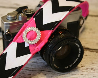 DSLR Camera Strap. Chevron Camera Strap. Padded Camera Strap. Camera Strap. Cute Camera Strap. Photographer Gift. Camera Neck Strap.