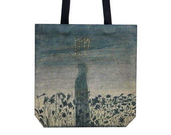 Tote bag Shopping bag Canvas tote Ciurlionis art Shopping tote Martket bag Handbag Shoulder bag Virgo present Blue tote