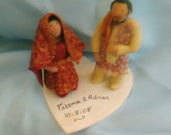 SALE Handcrafted Wedding Cake Toppers - made to order to the customers specification- Unique One of a kind toppers. Just ask!