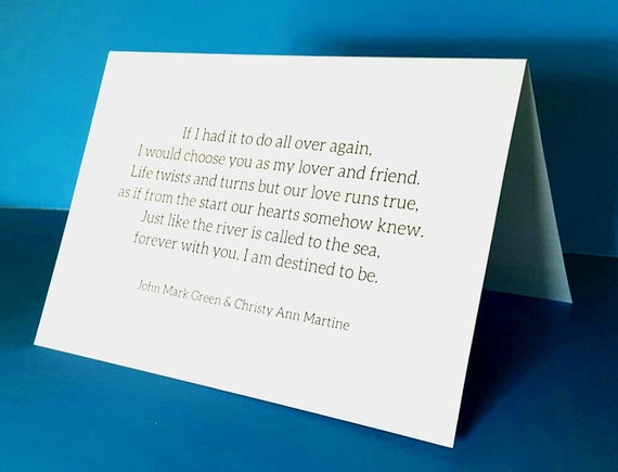Valentines Day Cards for Husband - Lover and Friend Poem by Christy Ann Martine - Romantic Greeting Cards - Anniversary Cards